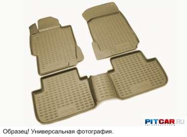 Коврики в салон (2 шт.) для Volkswagen Transporter T5 (2003-) полиуретан, с высокими бортиками, Novline