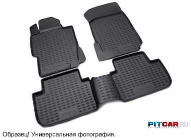 Коврики в салон для Volkswagen Passat (2011-) полиуретан, с высокими бортиками, Novline