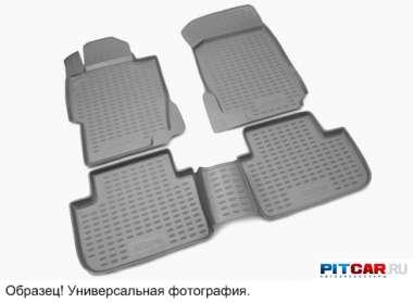 Коврики в салон (2 шт.) Volkswagen Transporter T5 (2003-) полиуретан, с высокими бортиками, Novline