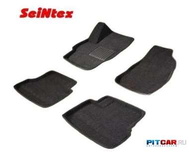 Коврики в салон для Hyundai Santa Fe (2006-2010), ворсовые 3D, Seintex