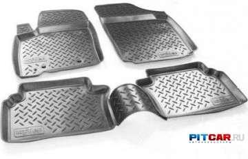 Коврики в салон для Ford Fiesta (2001-2008), полиуретан, серый, Норпласт