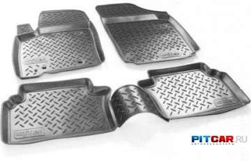 Коврики в салон для Fiat Doblo (2001-2010), 2-го ряда, полиуретан, серый, Норпласт
