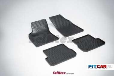"""Коврики в салон для Audi A6 (2004-2011), резиновые, рисунок """"Сетка"""", Seintex"""