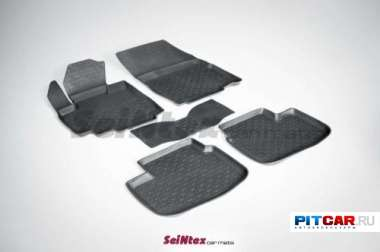 Коврики в салон для Fiat Sedici (2006-), резиновые с бортиками, Seintex