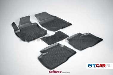 Коврики в салон для Hyundai Elantra (2007-), резиновые с бортиками, Seintex