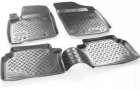 Коврики в салон для Fiat Doblo (2001-2010), 1-го ряда, полиуретан, серый, Норпласт